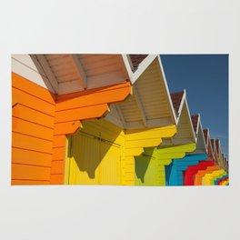 Scarborough Beach Huts 1 Rug