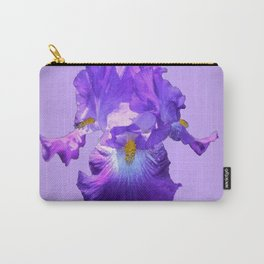 Decorative Lilac Bearded Iris Flower Carry-All Pouch