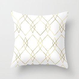 Gold Geometric Throw Pillow