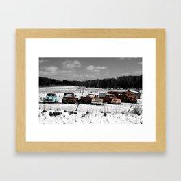 Backwoods Winter Framed Art Print