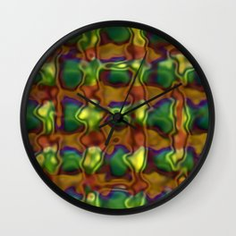 Green motion pattern Wall Clock
