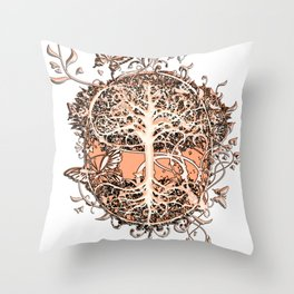 Butterfly Tree Throw Pillow
