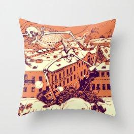 Bugaboo of Revolution Throw Pillow