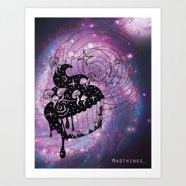 psilocibe cupcake trip Art Print