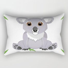 Cute Little Koala Bear Rectangular Pillow