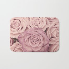 Some People Grumble - Pink Rose Pattern - Roses Bath Mat
