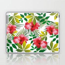 Hibiscus Flower and Leaf Laptop & iPad Skin