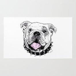 Bulldog with Pink Tongue Rug