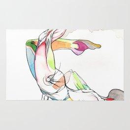 Shatter, female surreal anatomy, NYC artist Rug