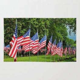 Flags Flying in Memoriam II Rug