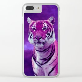 Purple Tiger Clear iPhone Case