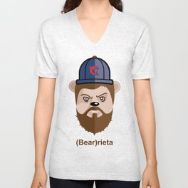 (Bear)rieta Unisex V-Neck