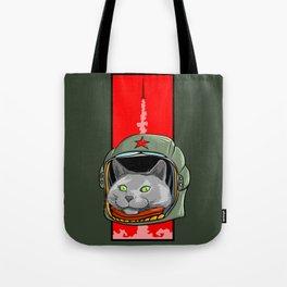 Russian Blue Space Program Tote Bag