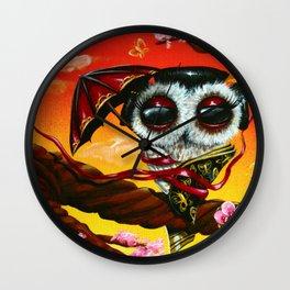 geisha owl Wall Clock
