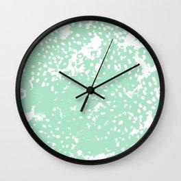 Painting mint abstract minimal painterly boho dorm nursery art Wall Clock