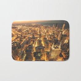 chicago aerial view Bath Mat