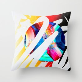 TRANS M U T E - TRANS M I T Throw Pillow