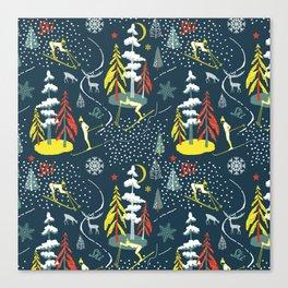 Retro Skiing  Canvas Print