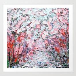 Sakura Path Art Print