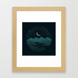Between The Mountains And The Stars Framed Art Print