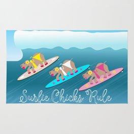 Surfie Chicks Rule Rug