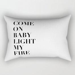 Light My Fire [white] Rectangular Pillow