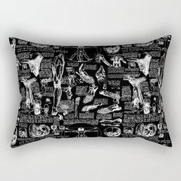 Da Vinci's Anatomy Sketchbook Rectangular Pillow