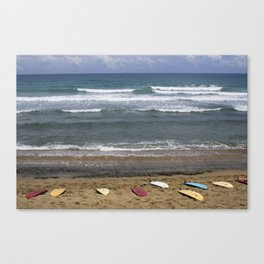 Boards Lined Up Canvas Print