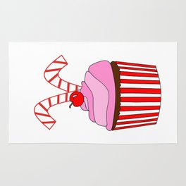 Cupcakes And Candy Canes Rug