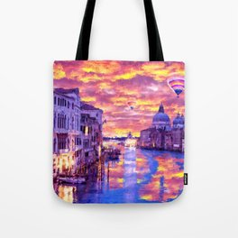 Colorful Abstract Painting of Venice Tote Bag