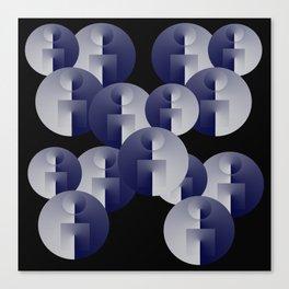 Round Spheres Canvas Print