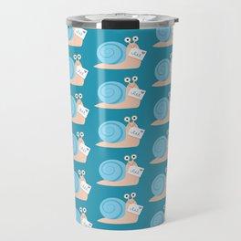 Blue snail mail Travel Mug