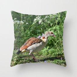British Bird Throw Pillow