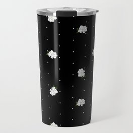 Gardenia pattern black Travel Mug
