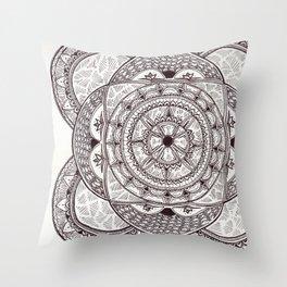 Flower Motif 2 Throw Pillow