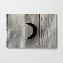 Outhouse Moon Metal Print