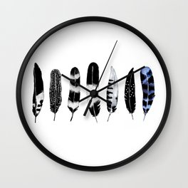Feather Tribe Wall Clock