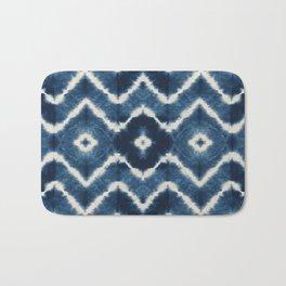 Shibori, tie dye, chevron print Bath Mat