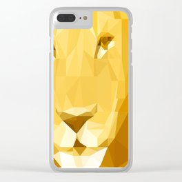 """Fragments """"Lion"""" Clear iPhone Case"""