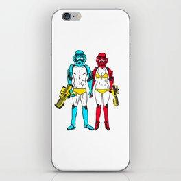 Mr. and Mrs. Storm iPhone Skin