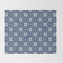 Watercolor Shibori Indigo Throw Blanket