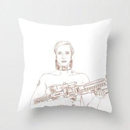 Clear Power Throw Pillow