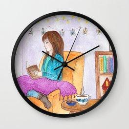 Rainy day at home Wall Clock