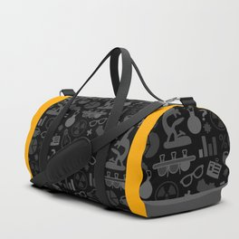 Grey and Black Science Pattern Duffle Bag