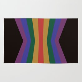 70's Retro Rainbow Psychedelic Palette Reflection Rug