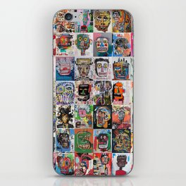 Basquiat Faces Montage iPhone Skin