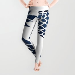 Pineapple Blue Denim Leggings