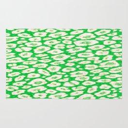green cheetah animal print Rug