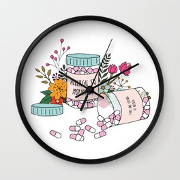 Allergic to mornings Wall Clock
