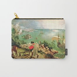 Landscape With The Fall Of Icarus Painting Pieter Bruegel The Elder Carry-All Pouch